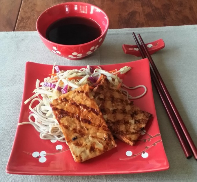 Soba noodles with cabbage