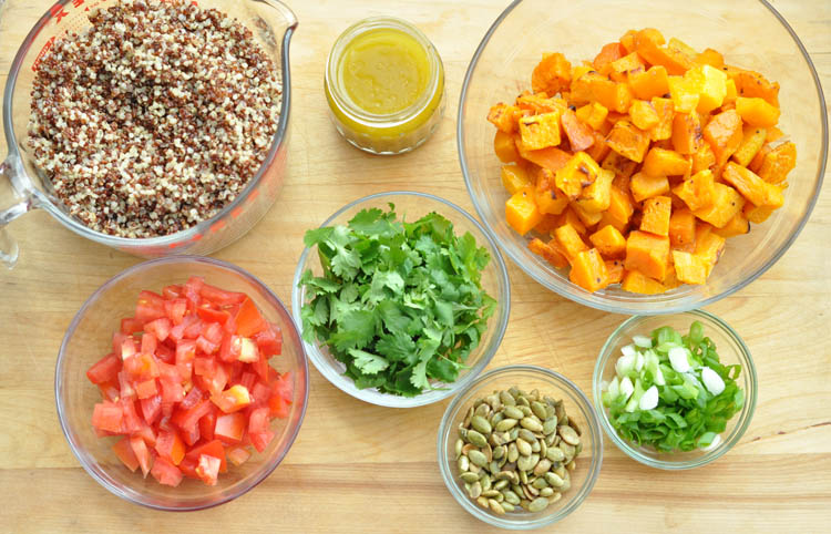 Roasted Butternut Squash and Quinoa Salad with Pepitas and Lemon Cumin Vinaigrette