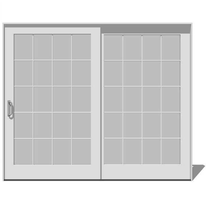 sliding patio doors 3d model