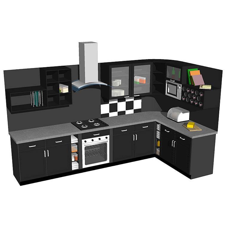 KitchenC02 3D Model - FormFonts 3D Models & Textures on Modern:8-Rtxafges8= Model Kitchen  id=79465