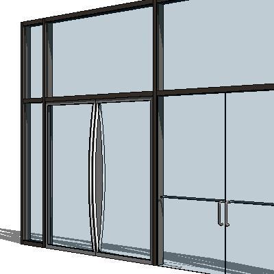 Curtain Wall Doors Model Formfonts Models Textures