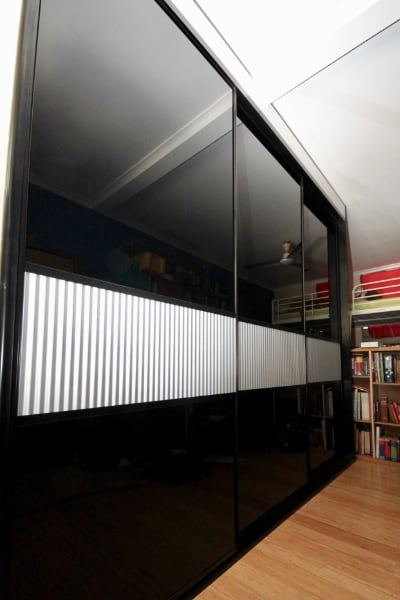 Black-Sliding-Doors-Mini-Orb-Panel.-Rumpus-Room-
