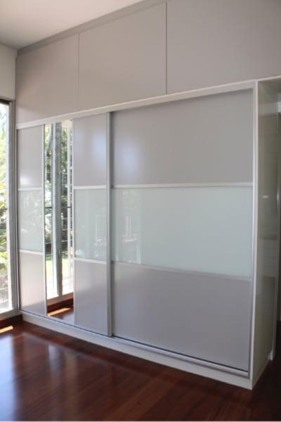 Closet Sliding Doors with Dress Mirror