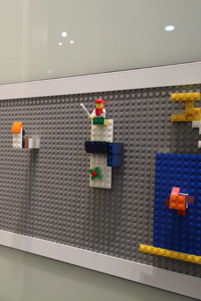 Close up of Lego Sliding Door .