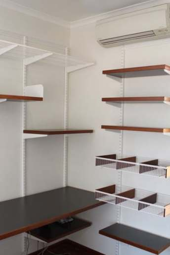 home office elfa shelving
