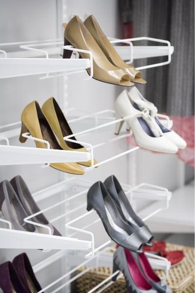elfa gliding shoe racks