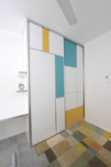 Mondrian Inspired Wardrobe Doors
