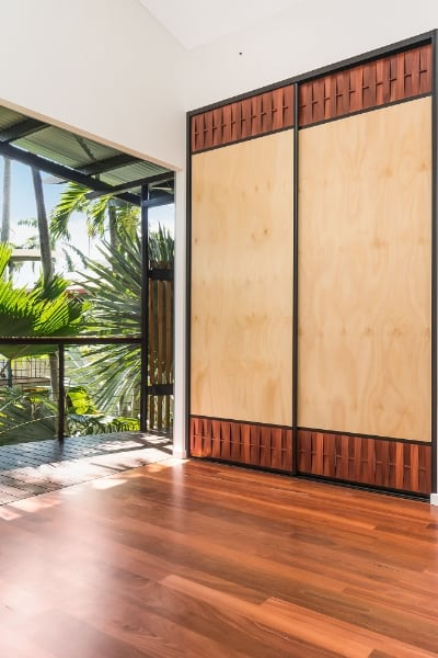 Hoop Pine Panel Jarrah Sliding Doors