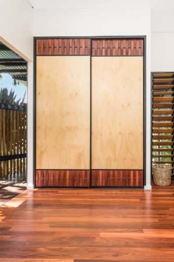 Interior Sliding Cupboard Doors with Hoop Pine Panels