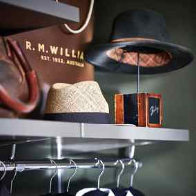 elfa decor wardrobe grey shelf and hanging