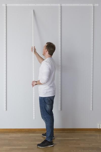Installing elfa wall bands