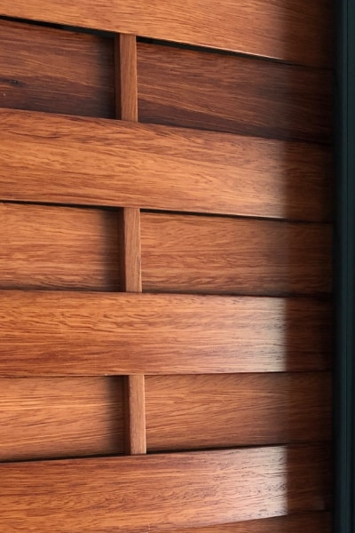 Detailed View of The Louvres Inserted into the Wardrobe Sliding Doors