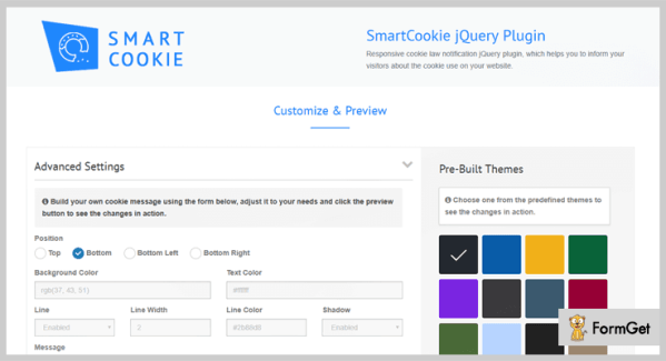4+ Best jQuery Cookies Plugins (Free and Paid) | FormGet