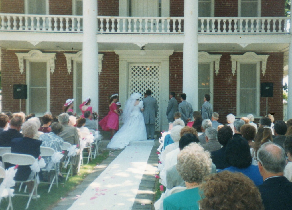 Gibson Mansion Woodland ceremony