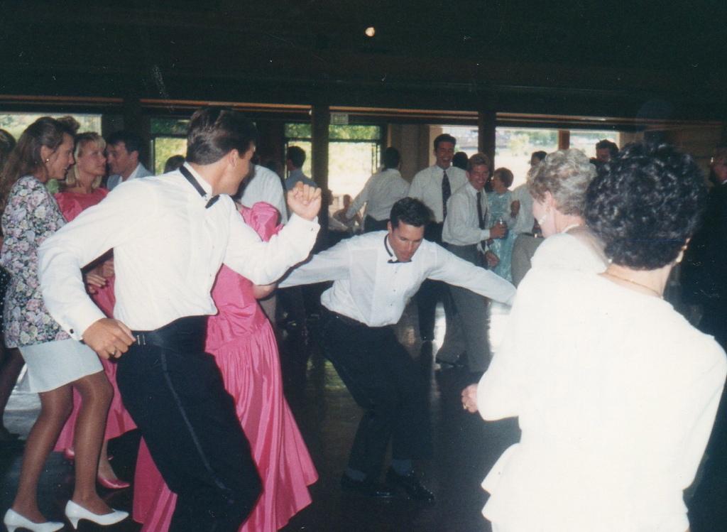 Wedding Groomsmen getting down