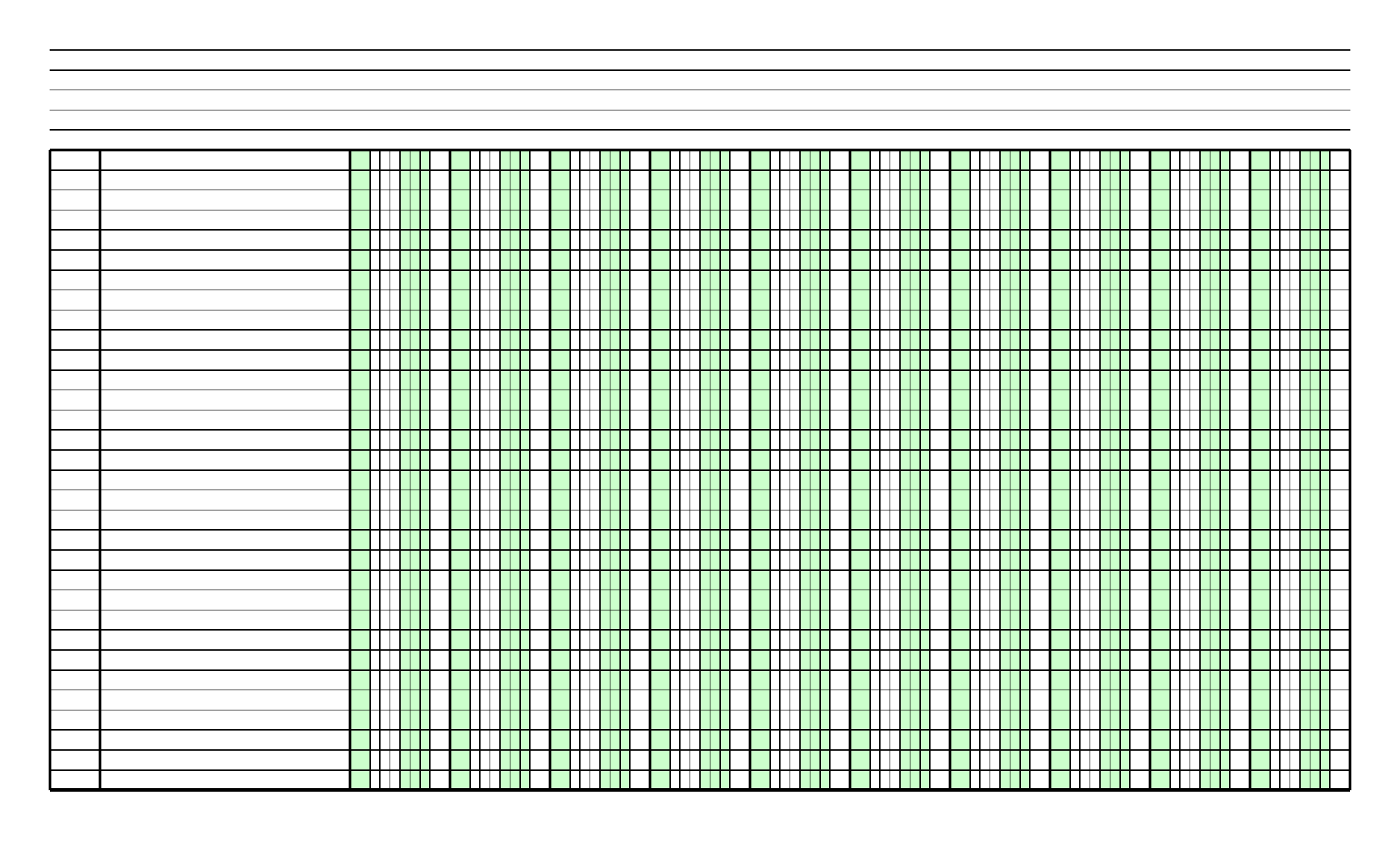 Blank Columnar Paper With Two Columns On Legal Sized Paper