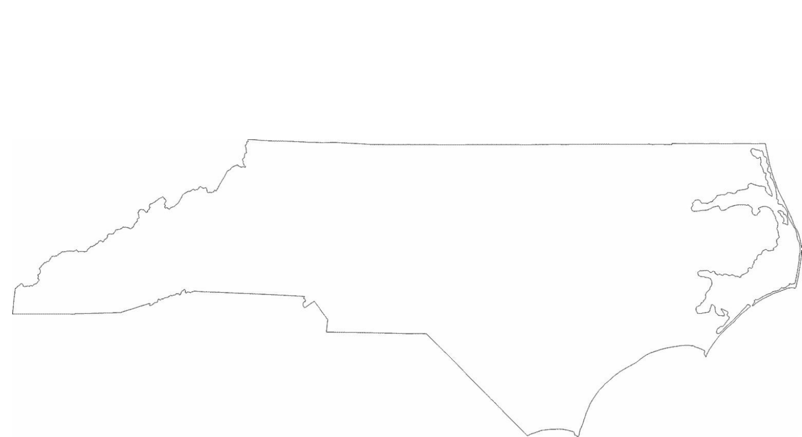 North Carolina State Outline Map Free Download