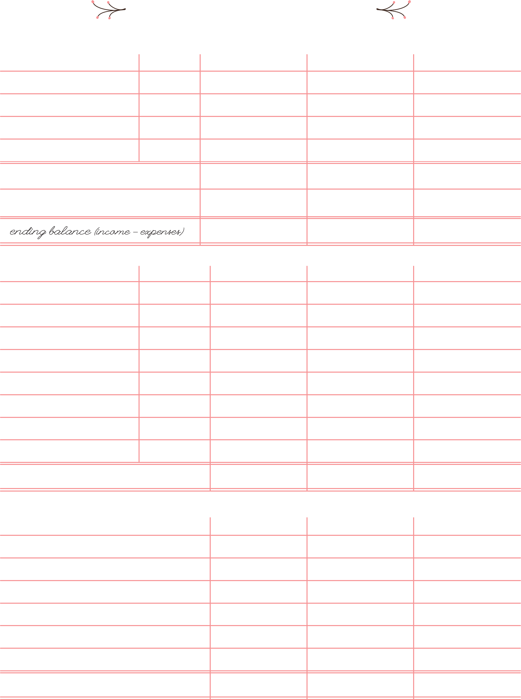 Blank Bi Weekly Budget Worksheet Free Download