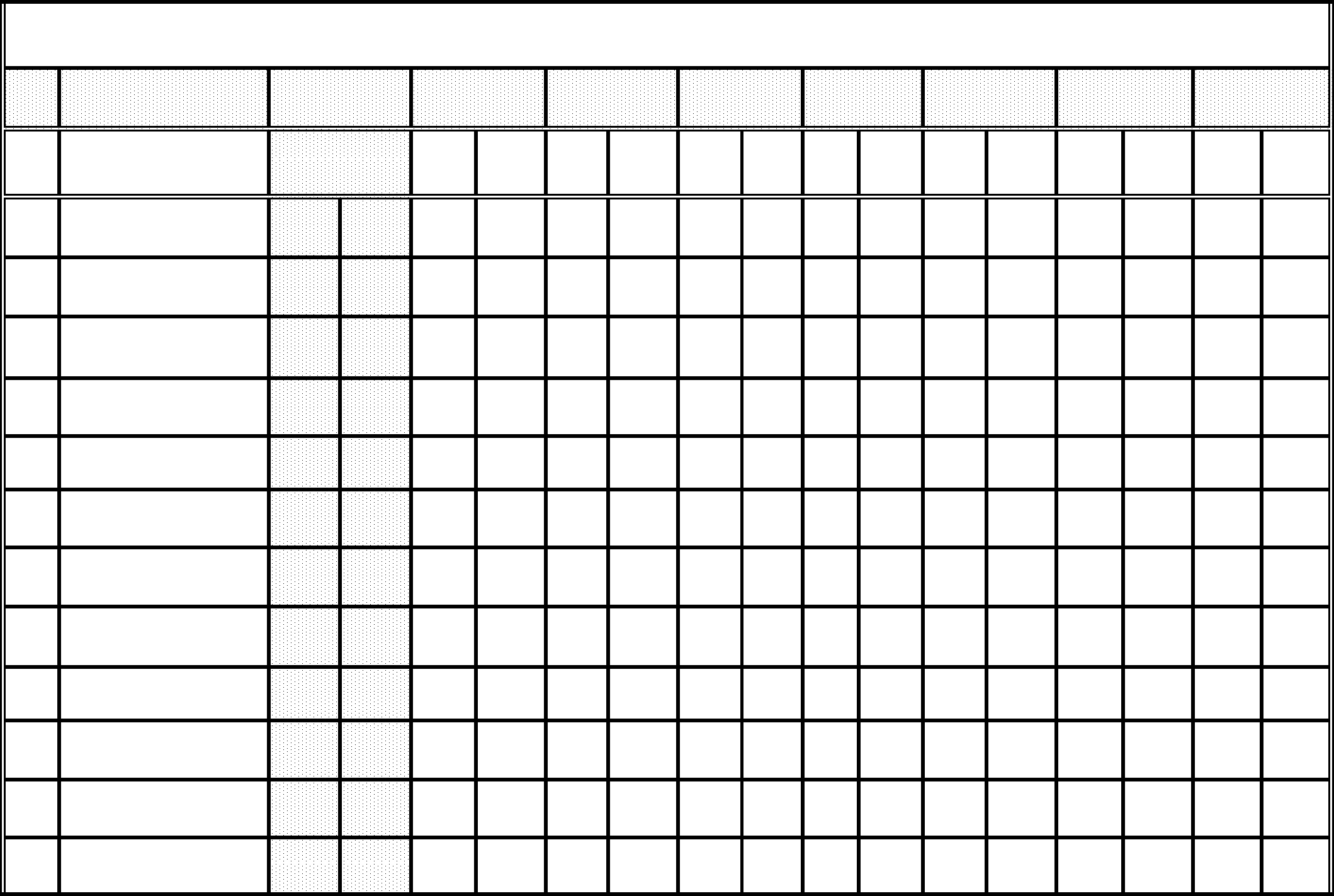 Blank Workout Chart Template Free Download