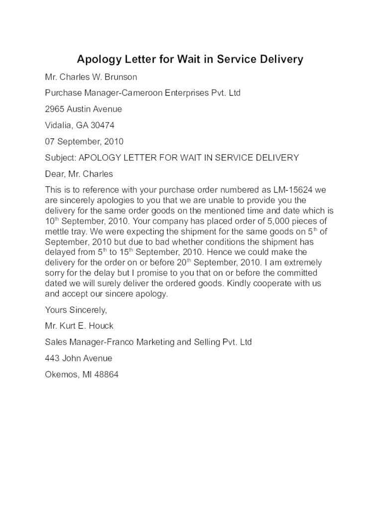 Sample Apology Letter To Client For Late Response lvcrelegantcom
