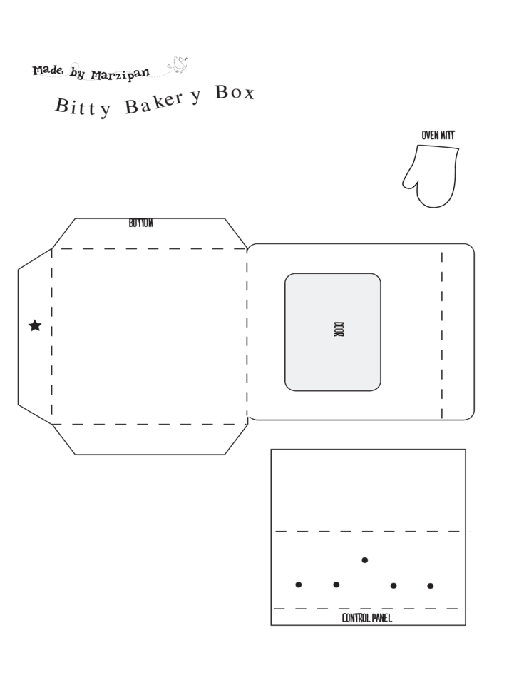 Bitty Bakery Box Template Free Download