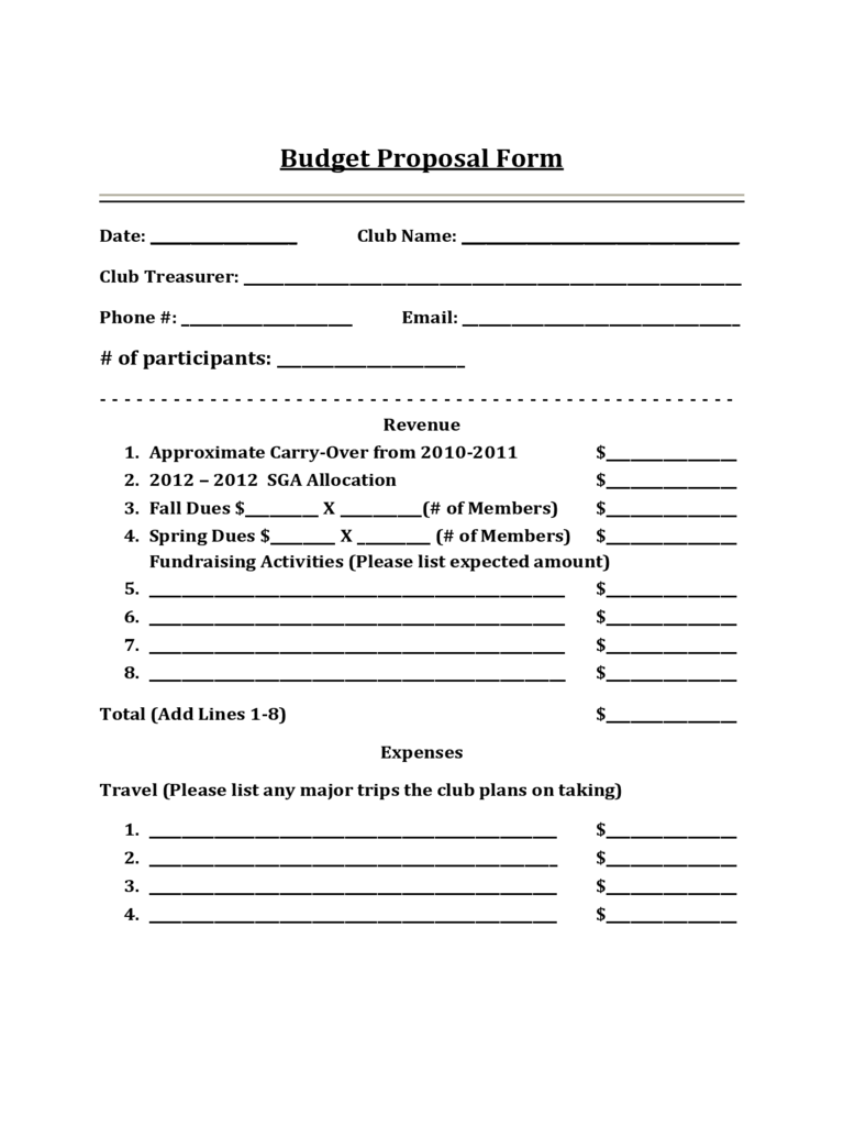 Budget Proposal Template 3 Free Templates In PDF Word Excel Download