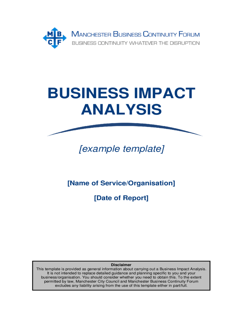 These free business plan templates will help you create a roadmap to growth and success. Business Impact Analysis Template 5 Free Templates In Pdf Word Excel Download
