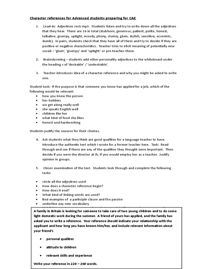 Sample Resume For A Fictional Character