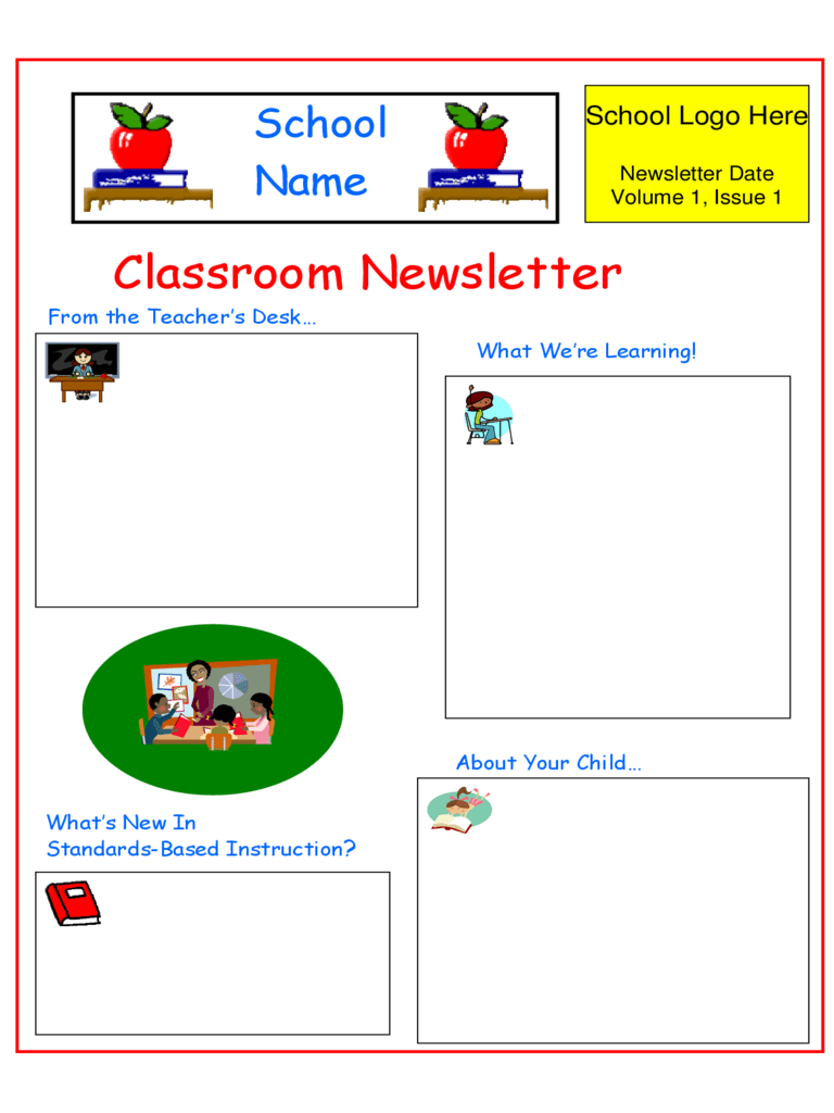 Show how much your class is growing on a daily, weekly, or monthly basis with a free, fun garden themed newsletter. Classroom Newsletter Template 3 Free Templates In Pdf Word Excel Download