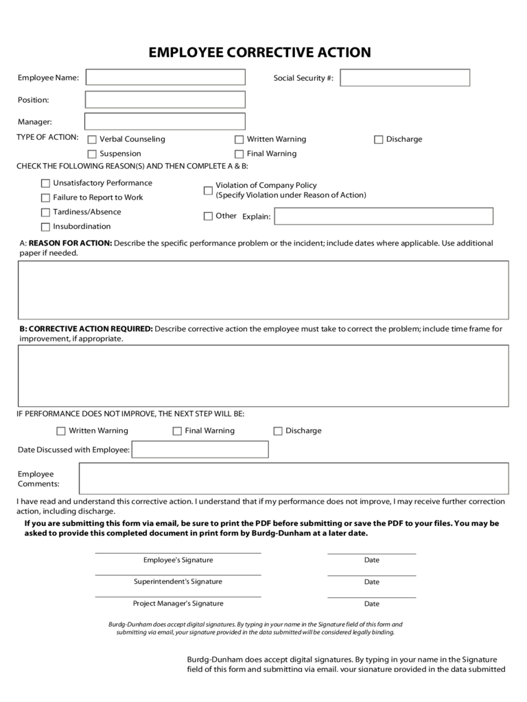 Corrective Action Plan Template 2 Free Templates In PDF Word Excel Download