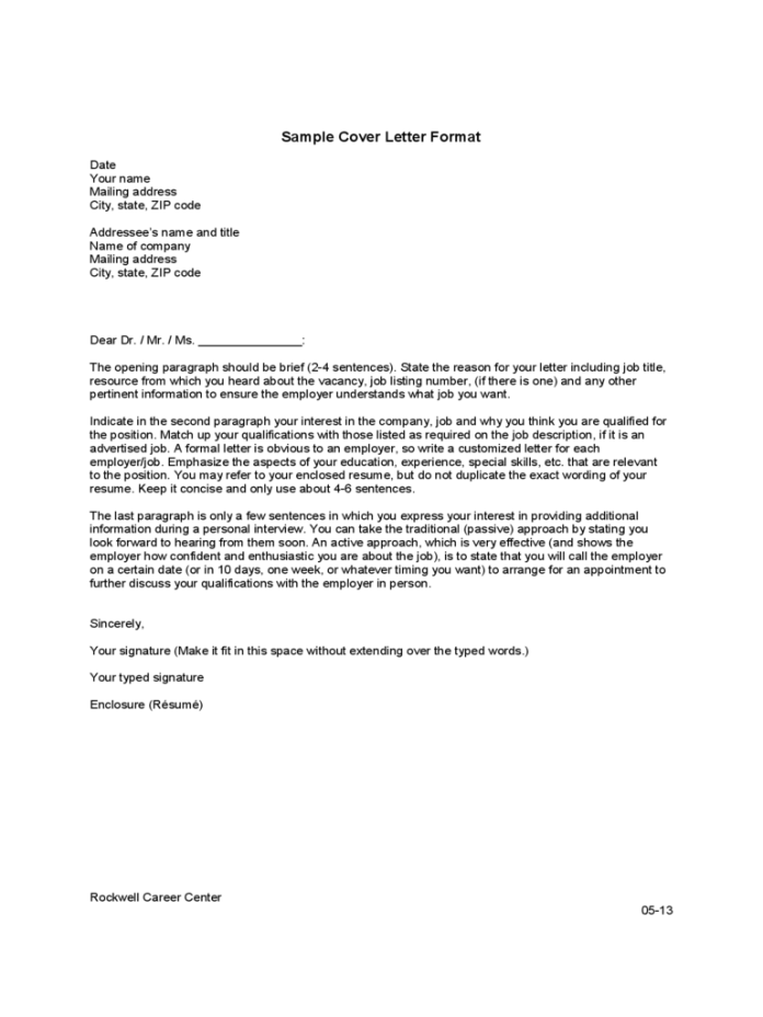 Cover Letter Template 42 Free Templates In Pdf Word Excel Download