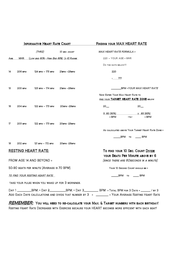 Target heart rate worksheet resultinfos target heart rate worksheet free worksheets library download and geenschuldenfo Image collections