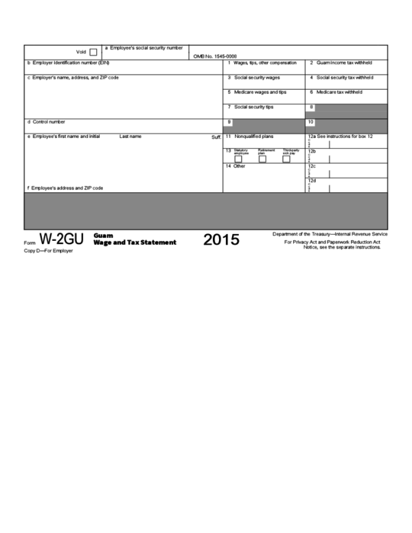 Guam Wage and Tax Statement Free Download