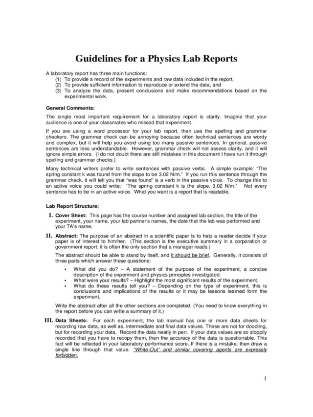 Lab Report Example - 12 Free Templates in PDF, Word, Excel Download