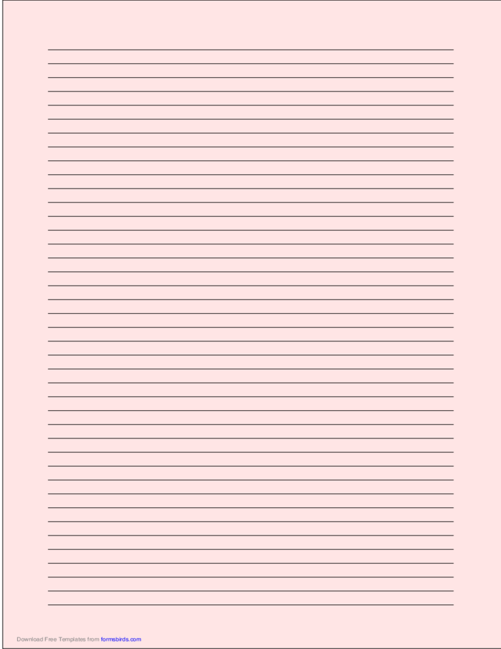 A4 Size Lined Paper With Narrow Black Lines Light Red Free Download