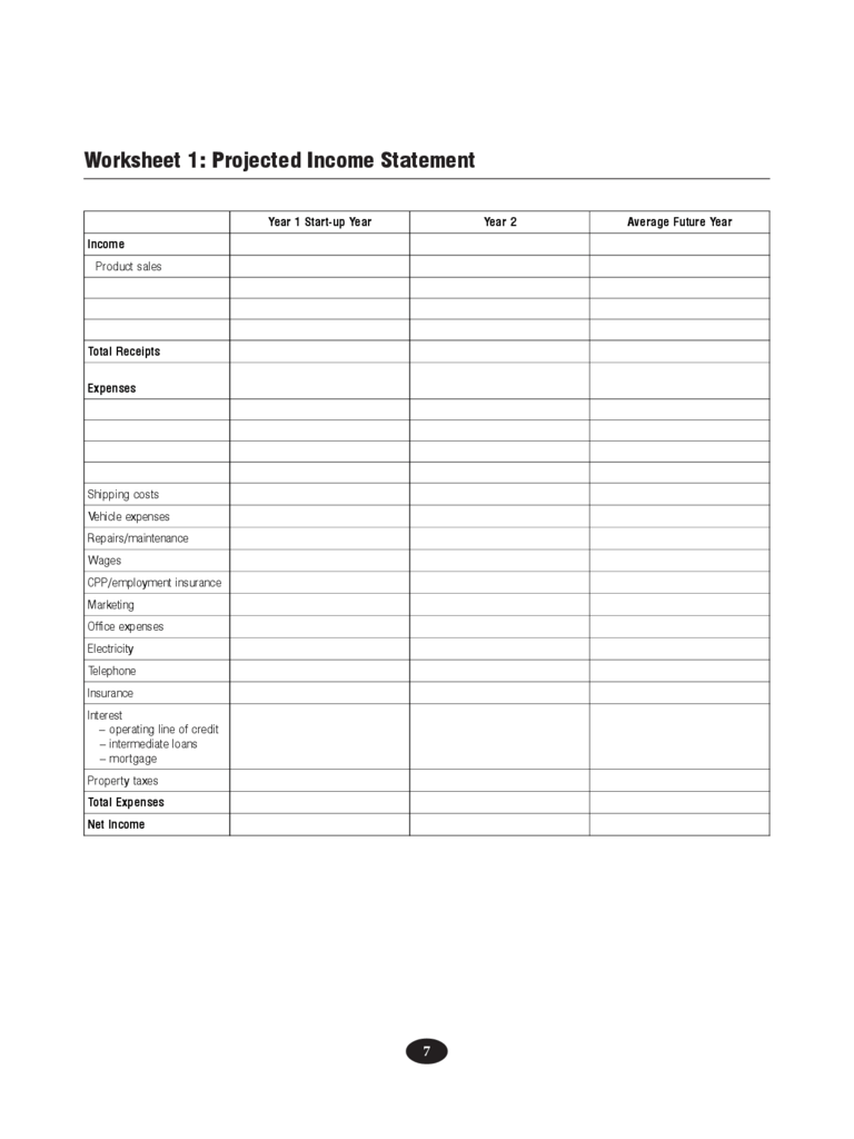 Projected Income Statement Template 2 Free Templates In PDF Word Excel Download