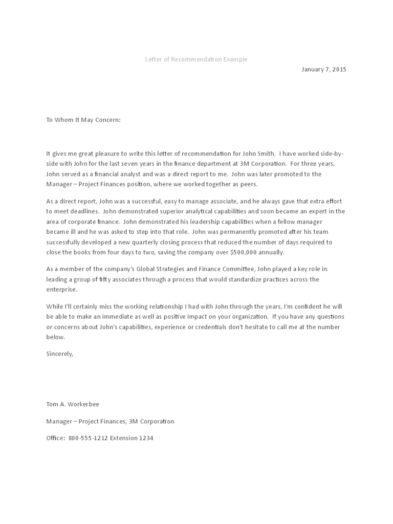 Letter Of Recommendation Sample For A Friend Image Collections