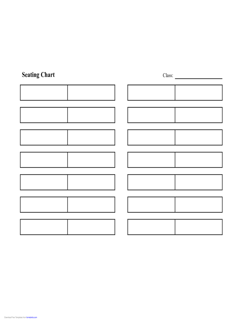 Seating Chart Template 7 Free Templates In PDF Word Excel Download
