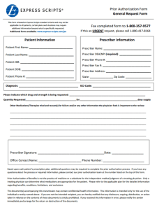 Express Scripts Prior Authorization Form