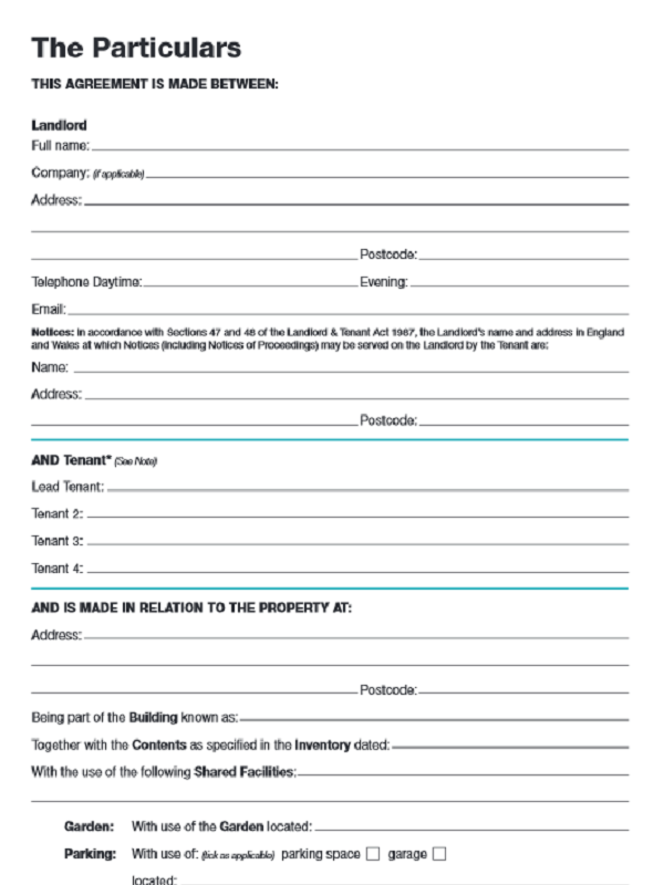 Free Tenancy Agreement Form