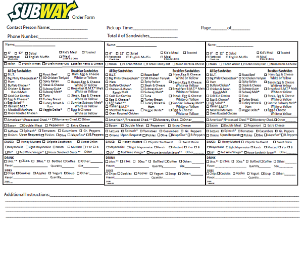 graphic regarding Printable Application for Subway identified as Subway Get Kind Fax - Absolutely free Undertaking Program Kind