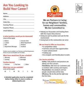 shoprite job application form