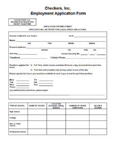 checkers job application form