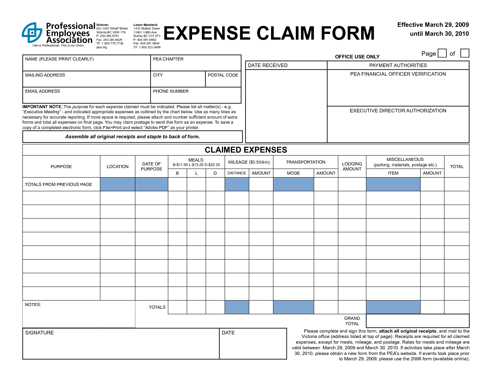 Free Business Forms To Print Categories