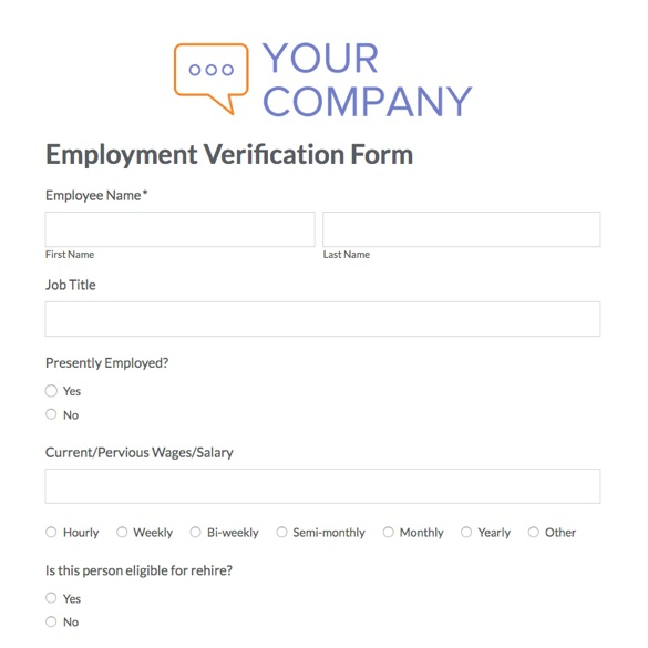 Employment Verification Request Form Template  Free Download