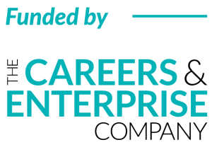 'Funded by' The Careers & Enterprise Company Logo
