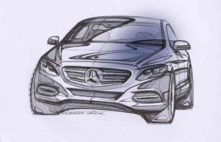 Mercedes-Benz C-Class (W205) sketch by Robert Lesnik
