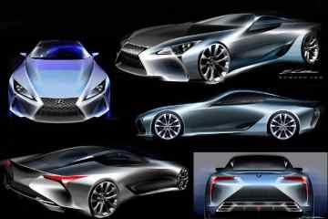 Lexus LC exterior sketches