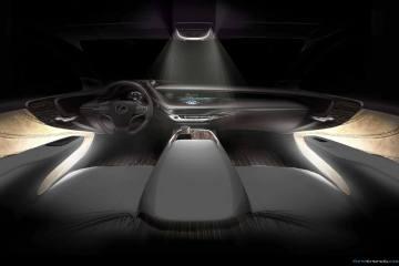 Lexus LS 500 interior night scene rendering