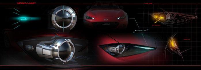 Mazda MX-5 ND headlamp sketches